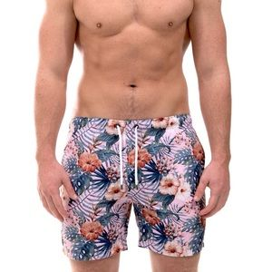 Franks Hawaiian Flower Print Swim Shorts